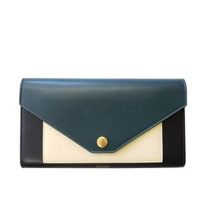 Celine Tricolor Leather Multifunction Wallet